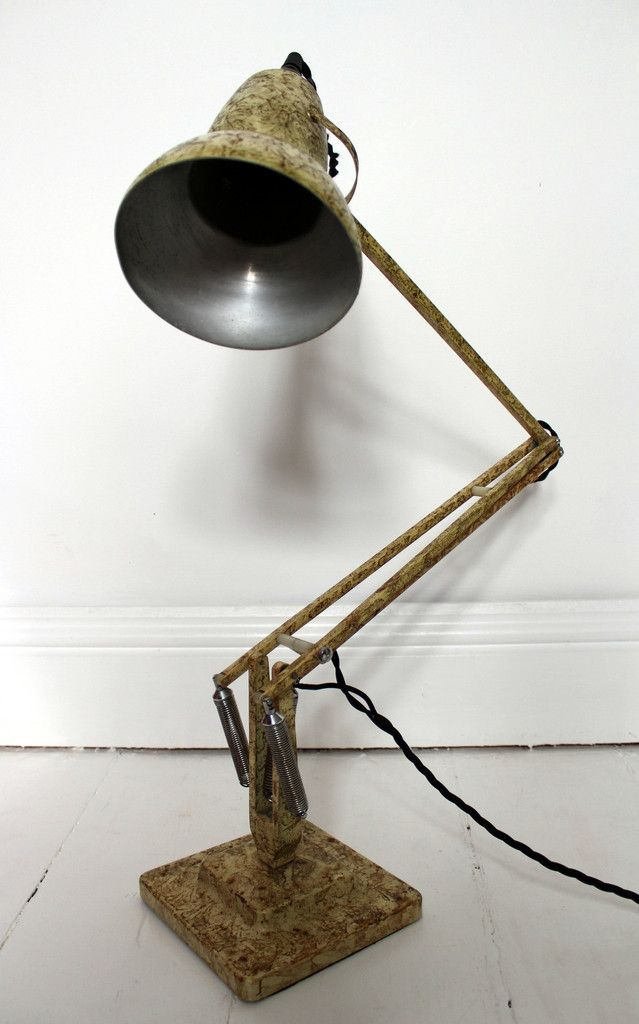 HERBERT TERRY 1227 ANGLEPOISE LAMP GOLD MARBLE C1960 69