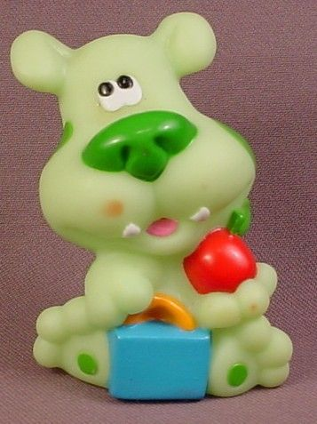 Blues Clues Green Puppy Dog With Book Bag Apple Figure 3 Inches