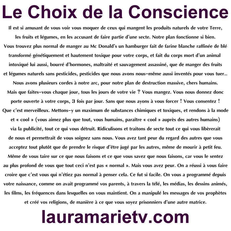 Le choix de la conscience