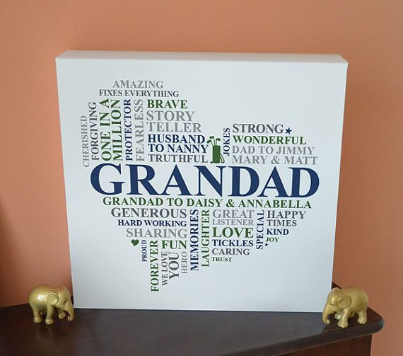 Wall Art Gift for Grandad Gift For Grandfather Gramps Papa Fathers Day Present Love You Grandpa Print Grandpa