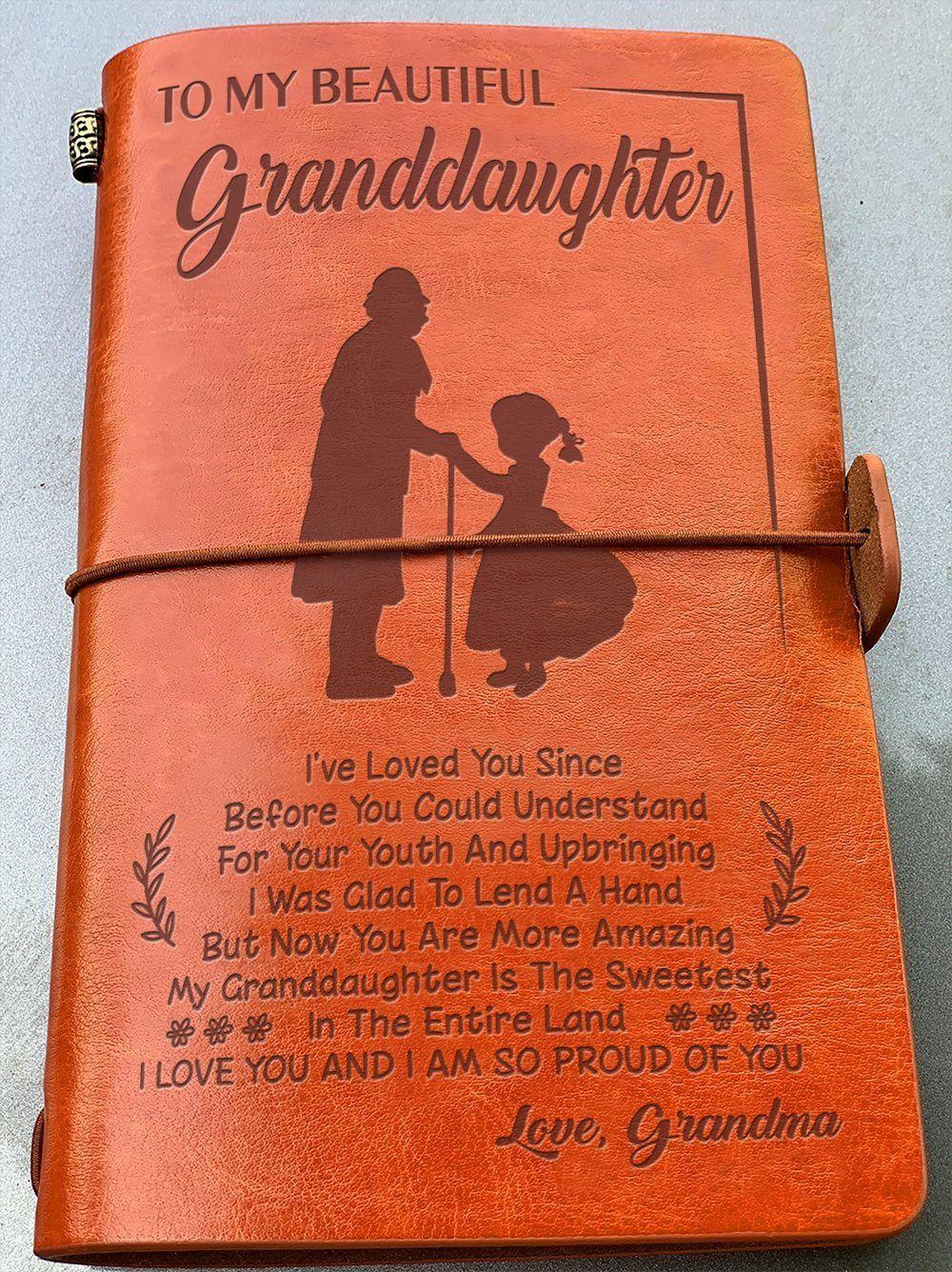 To My Beautiful Granddaughter Vintage Journal Granddaughter S Gift 4330 Forever Love Gifts In 2020 Granddaughter Gift Love Gifts Vintage Journal