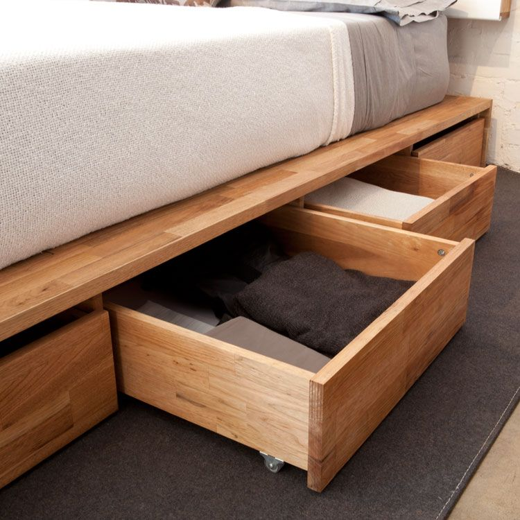 Picture Of Lax Series Storage Platform Bed With Headboard Cama