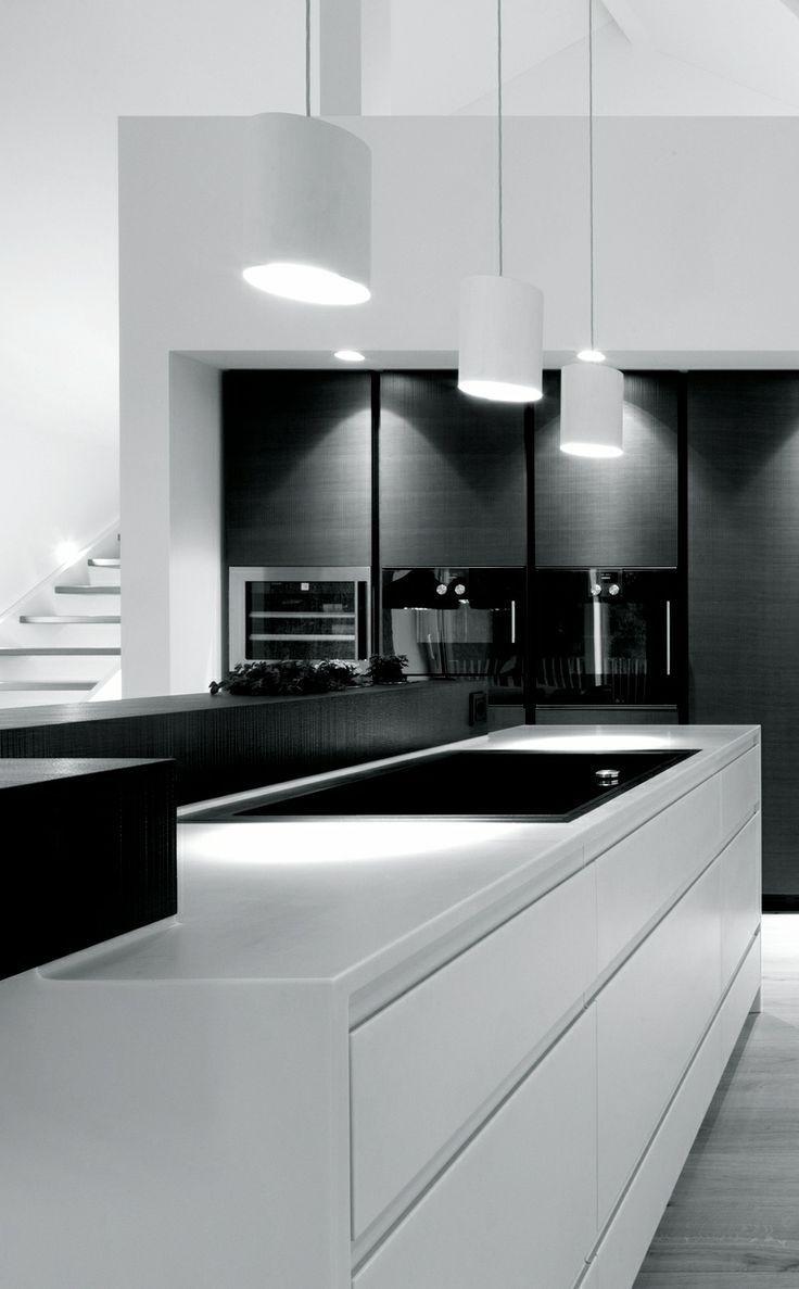 Ways To Achieve The Perfect Black And White Kitchen Sovremennye