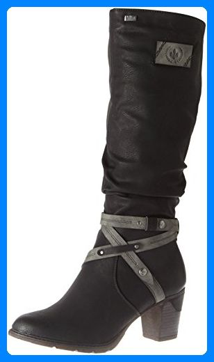 Rieker Damen 96054 Stiefel Schwarz Schwarz Smoke 41 Eu Stiefel Fur Frauen Partner Link Boots Winter Boots Women Casual Shoes Women