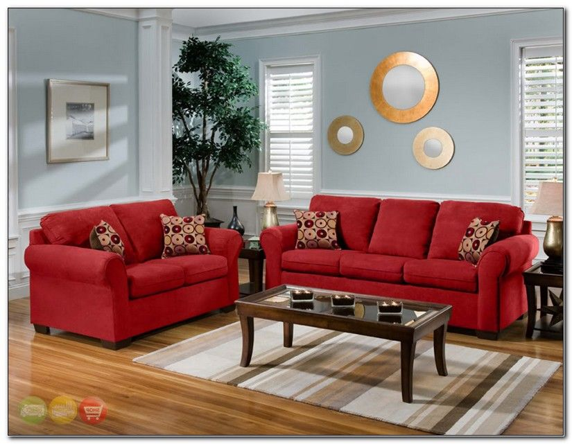Red Microfiber Living Room Furniture Red Couch Living Room Brown Living Room Decor Living Room Red
