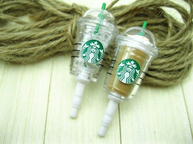MINI CARTOON CUP OF STARBUCKS COFFEE PHONE DECORATION … | Pinterest