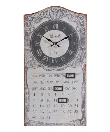 Another great find on #zulily! Rustic Magnetic Calender Wall ... on
