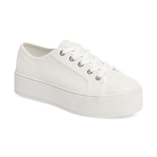 White platform sneakers, White platform