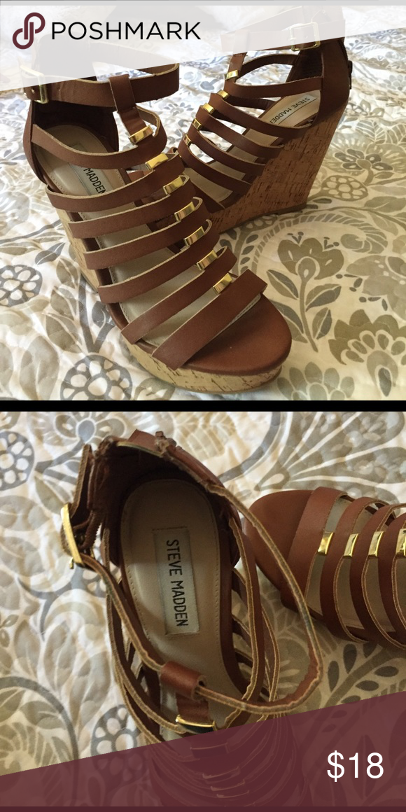 [[25% Off Bundles]] Steve Madden Wedges worn once! in excellent condition Steve Madden Shoes Wedges