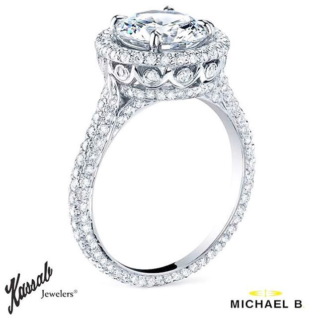 Make it Holy...with this stunna by Michael B. Exclusively at #KassabJewelers in Portland!  #KassabLegend #Wishlist #MichaelBJewelry #ring #love #diamonds
