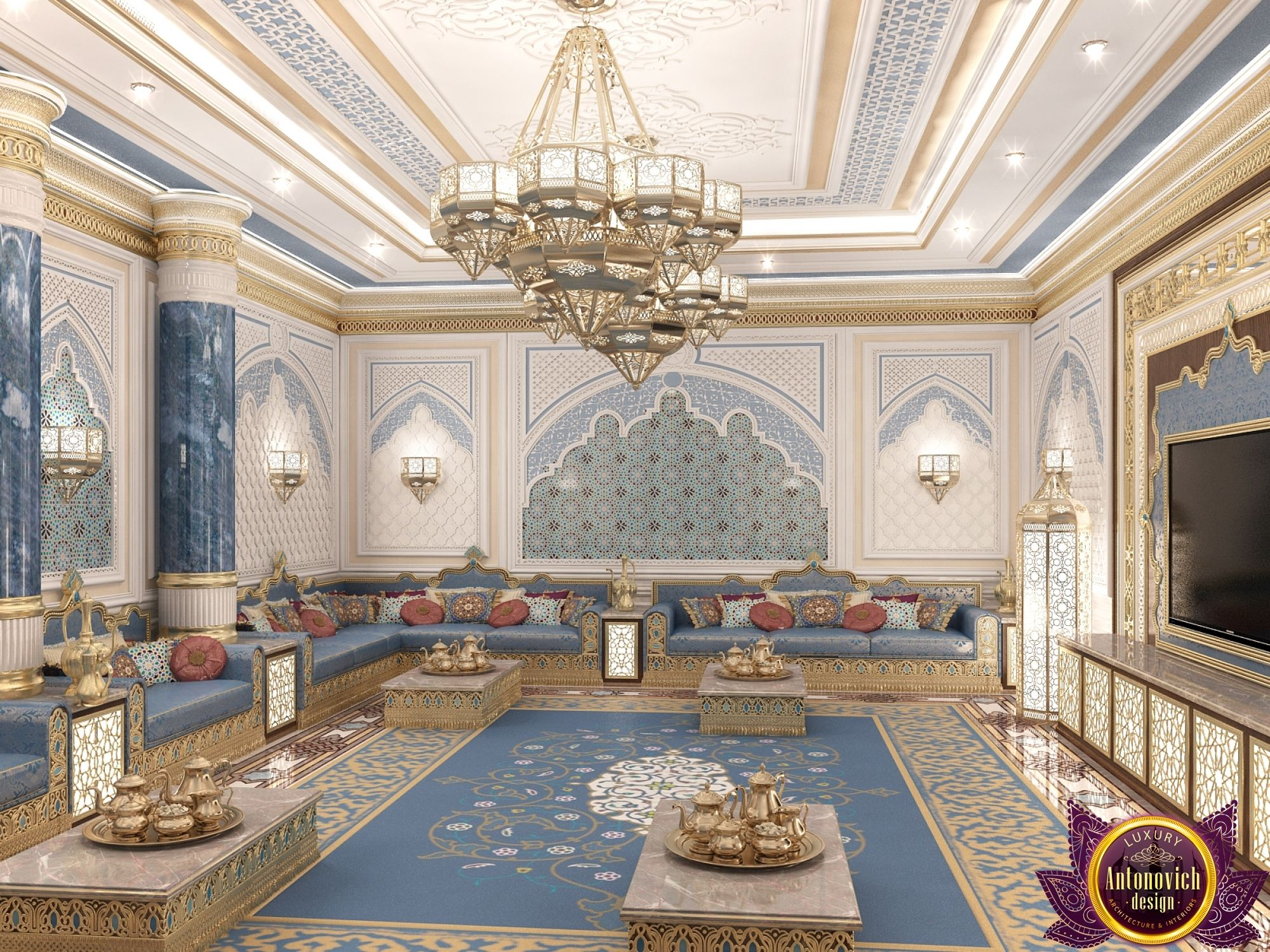 Majlis Interior Design In Dubai Luxury Arabic Photo 3