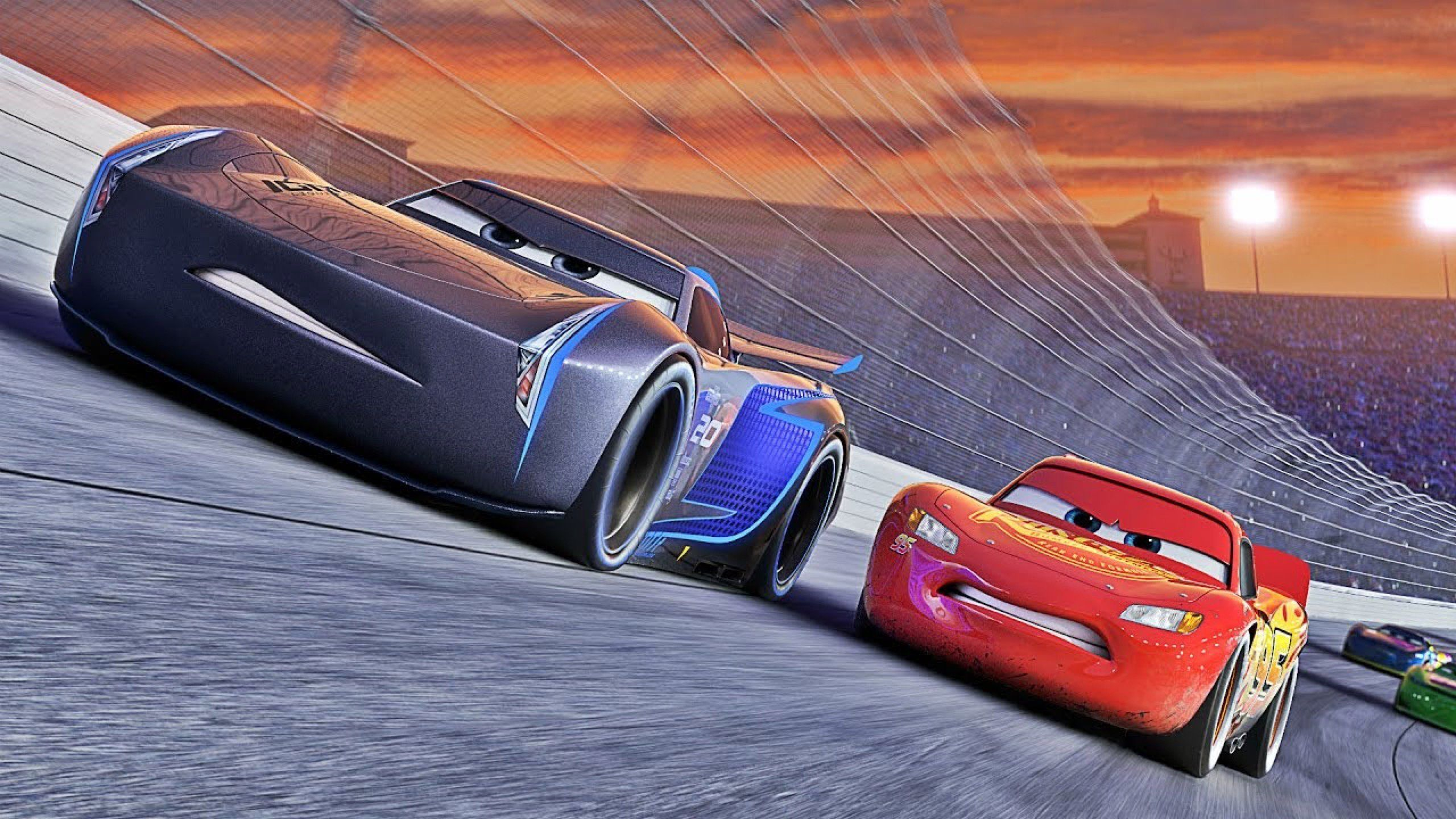 Jackson storm and lightning mcqueen cars 3 atdisney