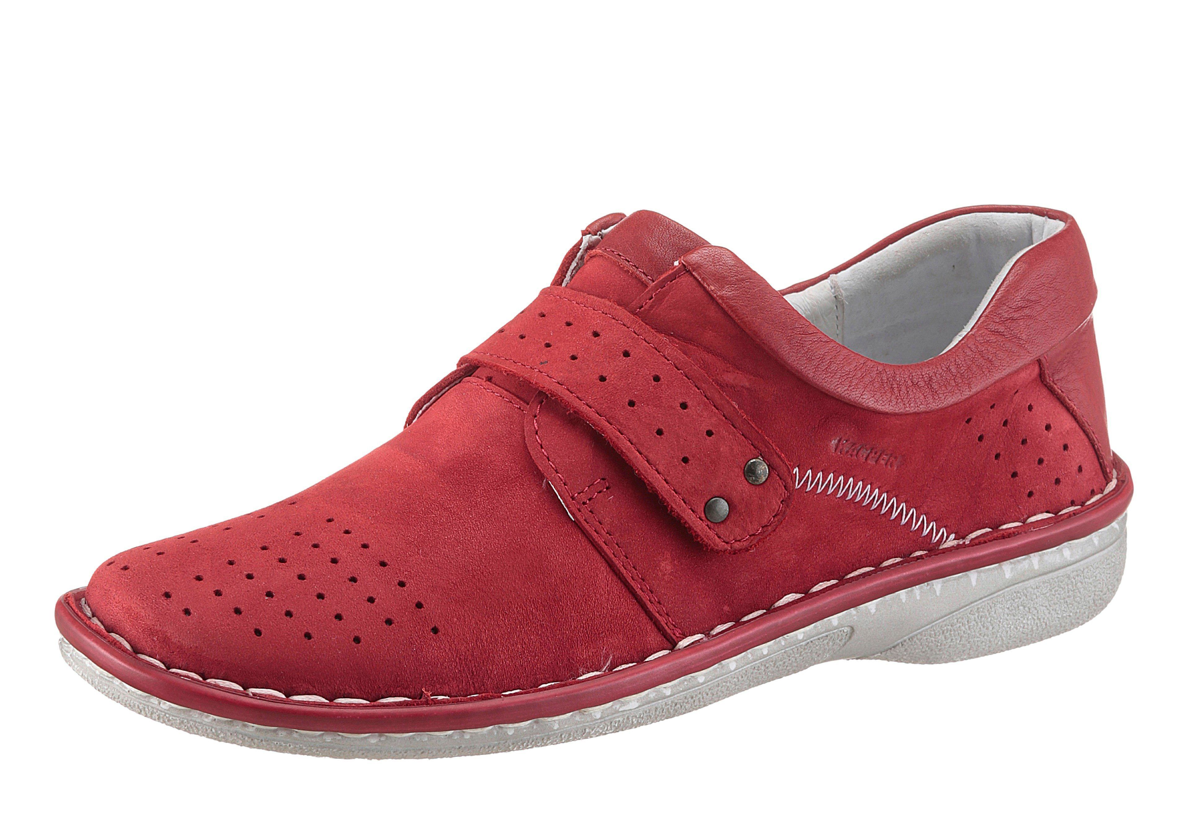Damen KACPER Slipper, mit Perforation rot | 05902447407273
