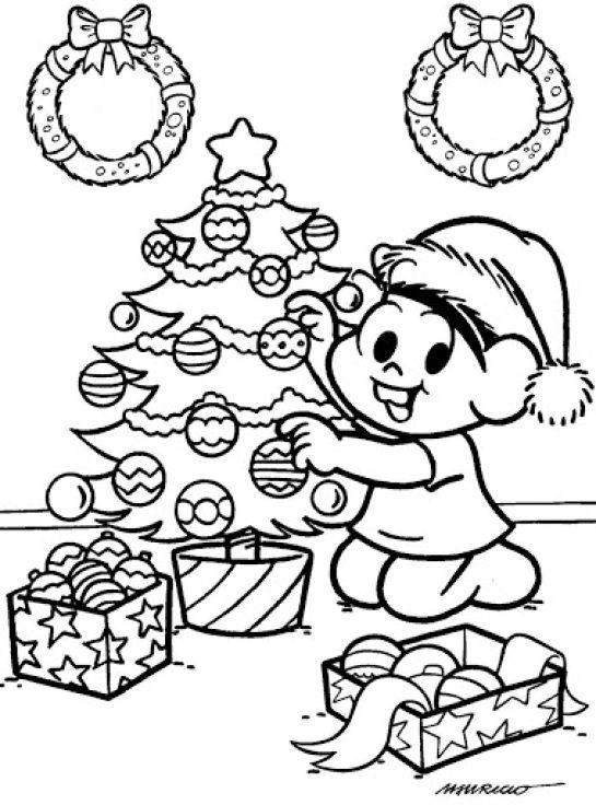 Árvores de Natal para Imprimir e Pintar   Árvores de Natal para ...