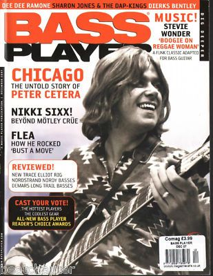 Peter Cetera - Bass Player Magazine (Dec 2007 issue) | Chicago in