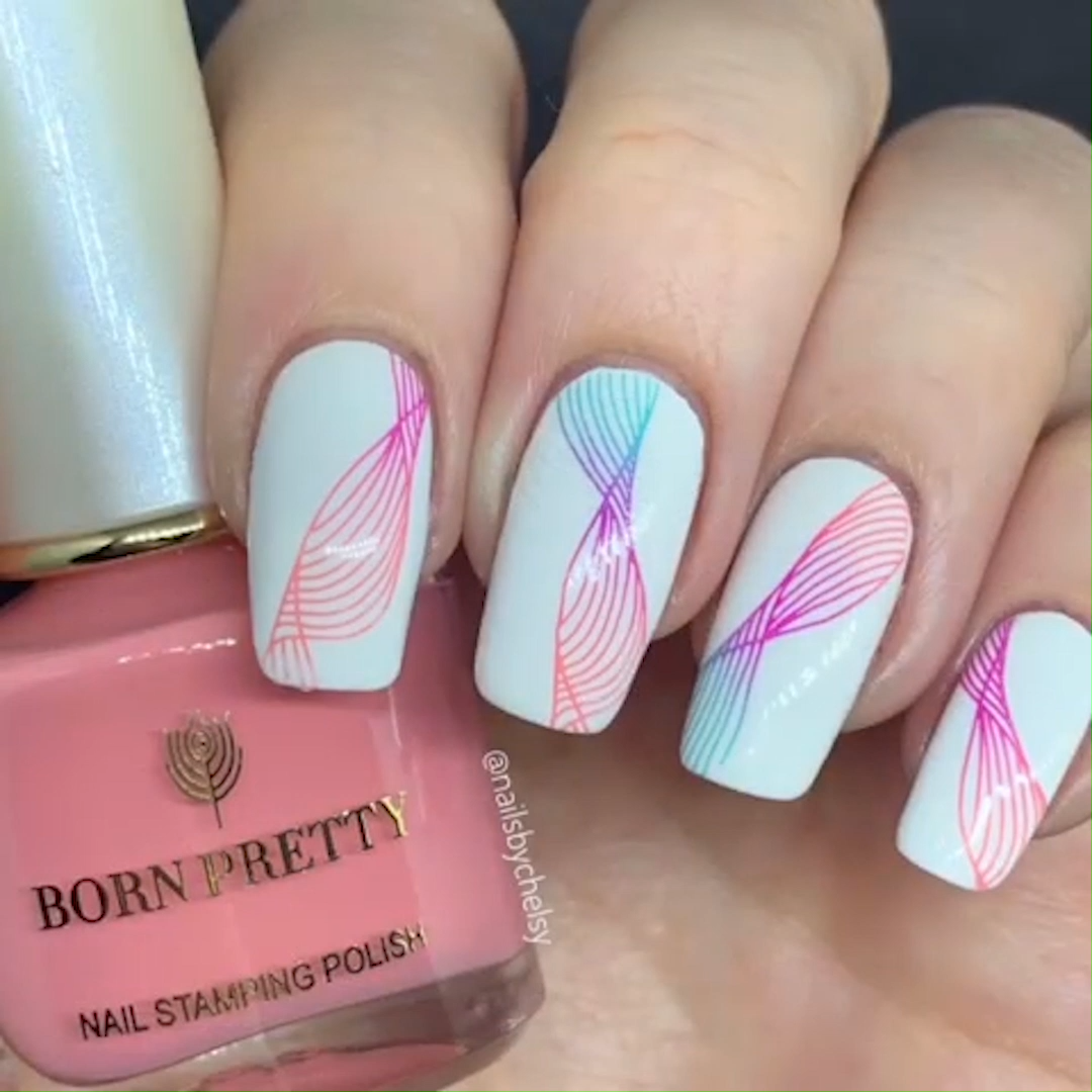 Photo of STAMP NAIL ART #nailart #stampnails #nailtutorial #tutorial #
