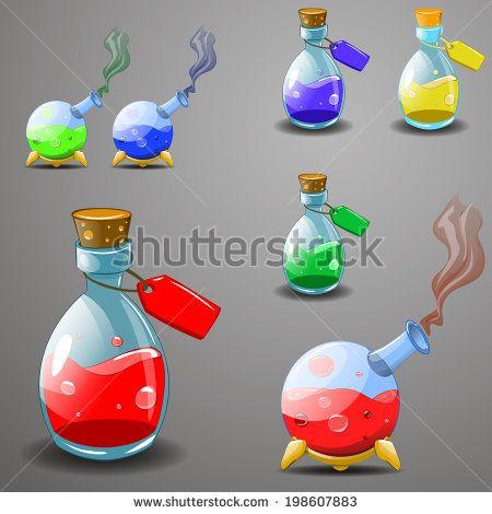 Potion Bottle 스톡 벡터 및 벡터 클립 아트   Shutterstock