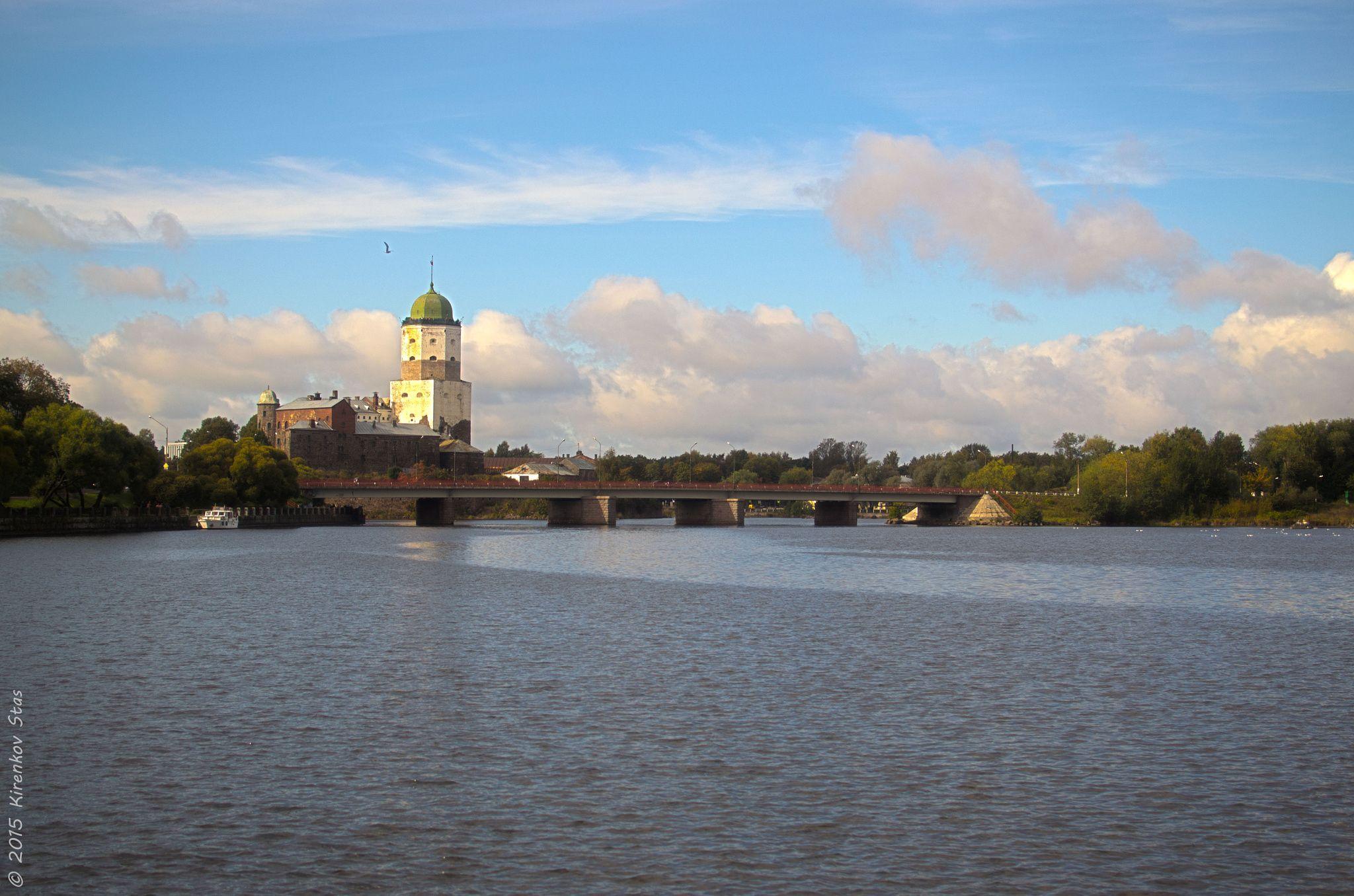 Castle behind bridge by Stas Kirenkov