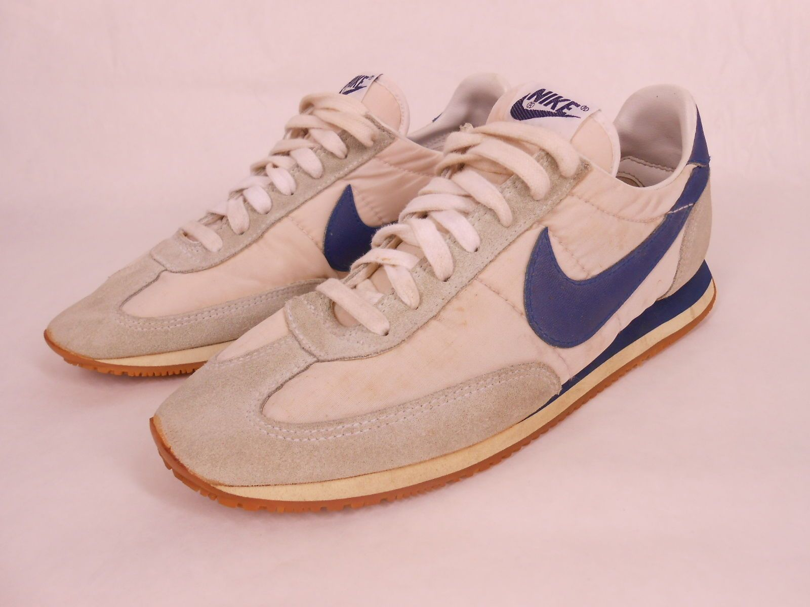 1983 deadstock men's nike cortez running shoessize- 10color- off white,  light gray bluecondition