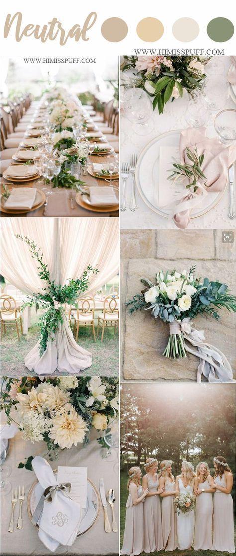 Wedding Color Trends 2019: 45 Neutral Spring Wedding Color Ideas