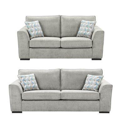 Buy Boston 2 5 Seater 3 Seater Sofa Set From Our Fabric Sofas Range Tesco Grey Sofa Living Room Sofa Sofa Set