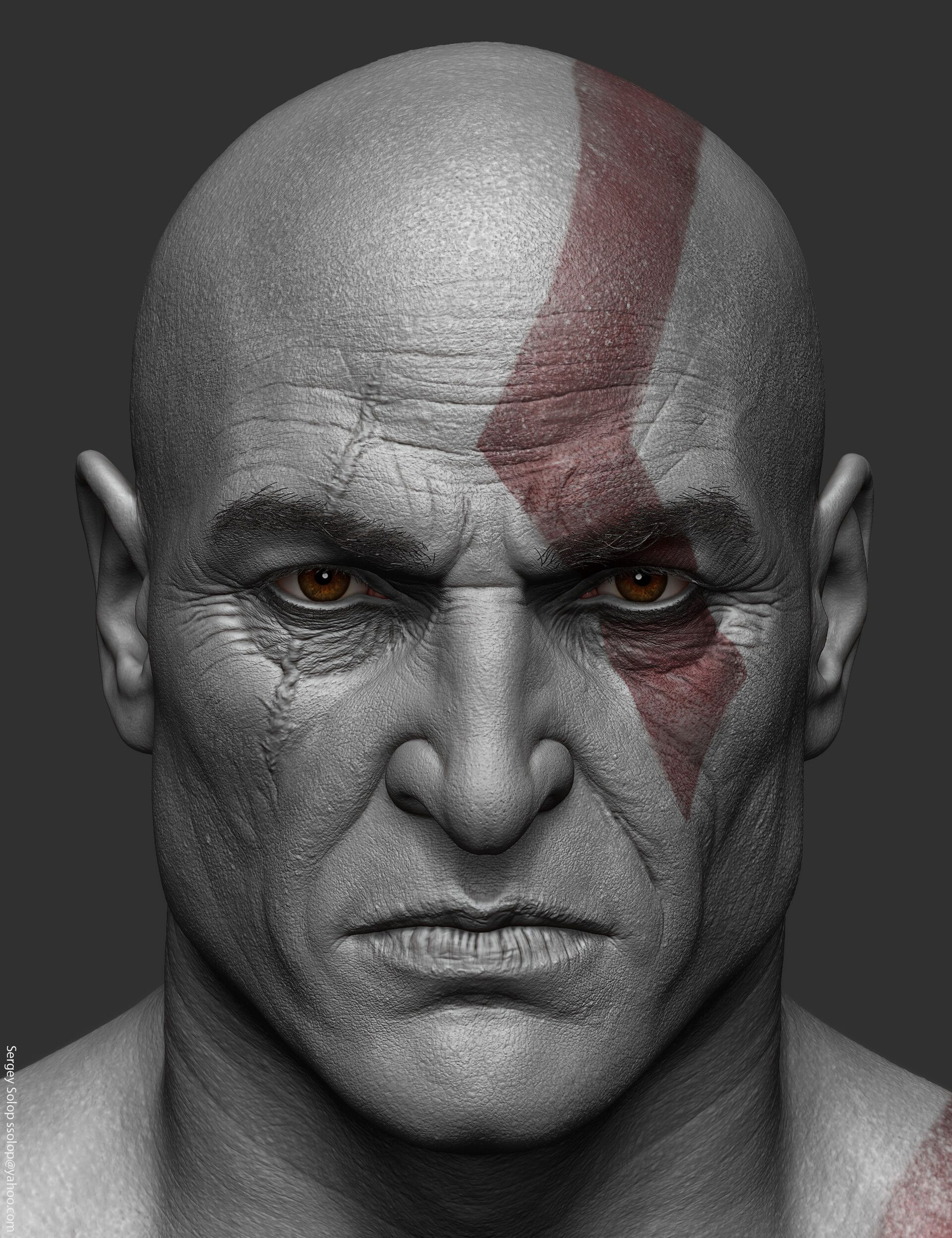 Artstation Kratos God Of War Sergey Solop In 2019