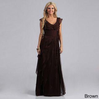 Adrianna Papell Women's Chiffon Tiered Petal Dress   Overstock.com Shopping - The Best Deals on Evening & Formal Dresses