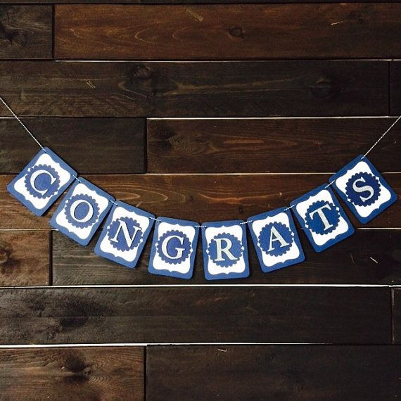congrats banner congratulations by leroylime on etsy party idea