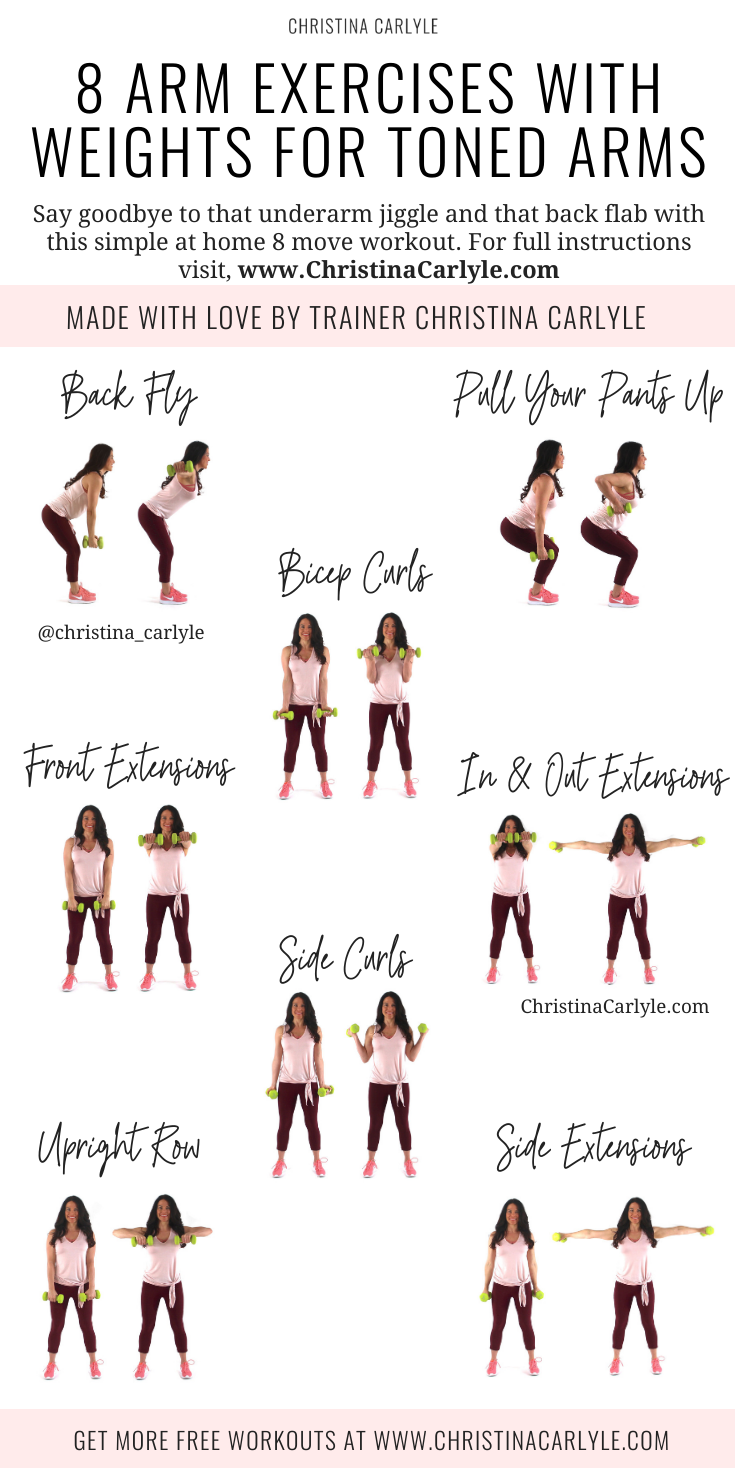 8 Easy Arm Exercises with Weights for Women