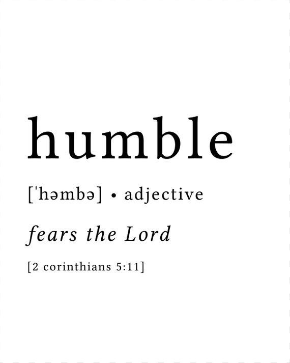 Humble Print / Definition Print / Fruit of the Spirit / Bible Verse Print / Bible Verse Art / Humility Print / Fear the Lord Print #bible