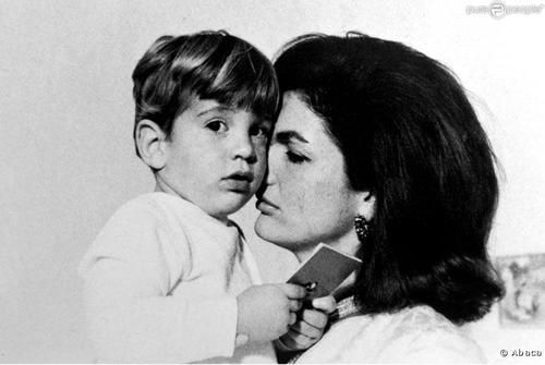 Jackie Kennedy and John John.
