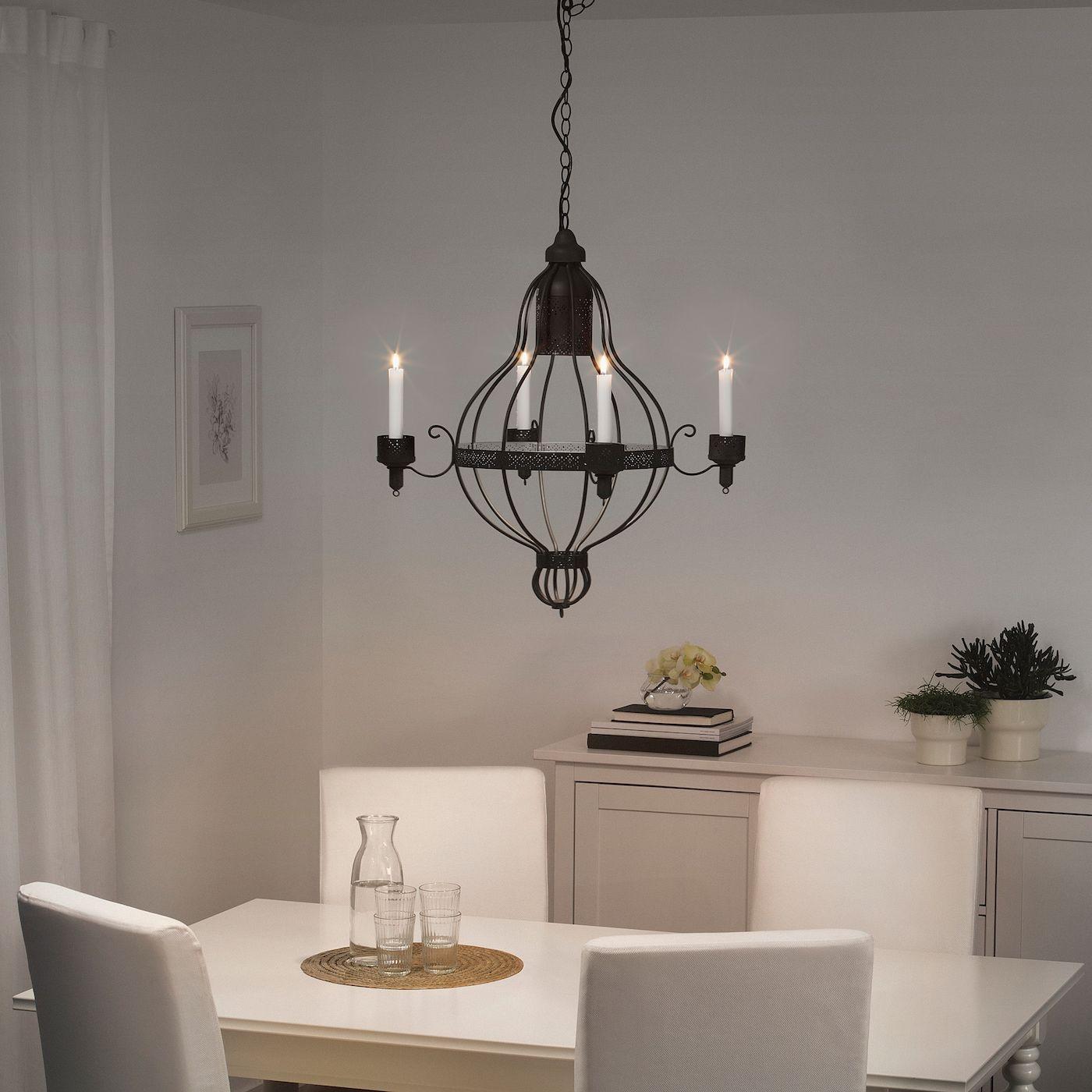 Landhausstil Kronleuchter Weiß Creme Floral 3 Arme Schlafzimmer Wohnzimmer Lampe