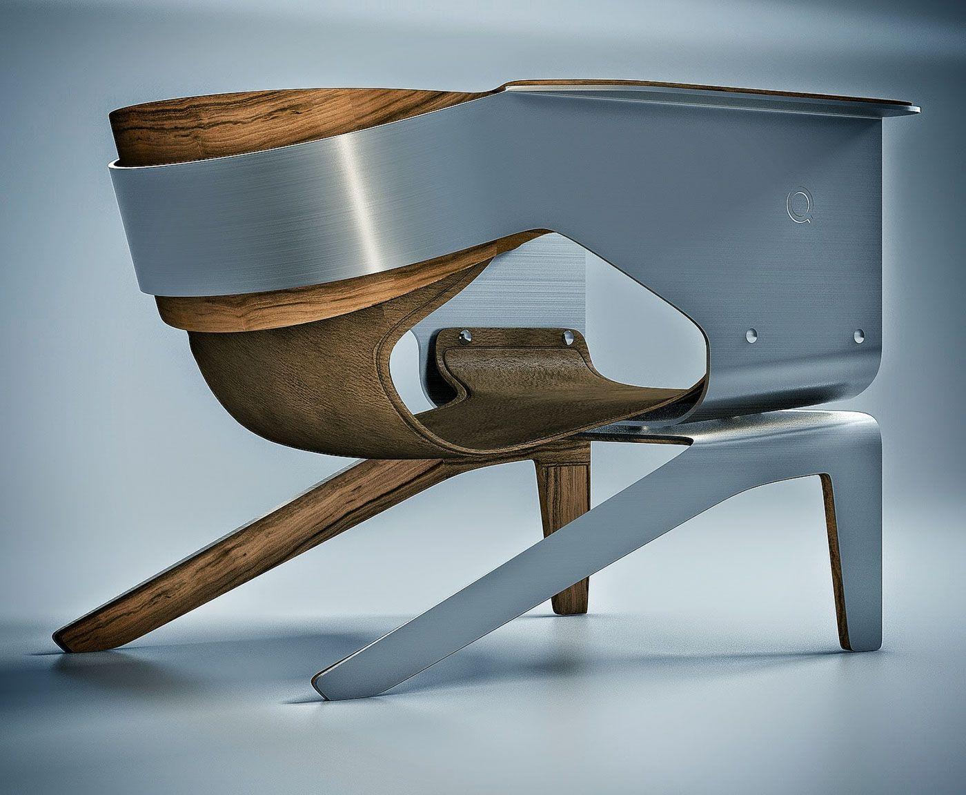 Q Lounge Chair on Behance  Simple FurnitureWood FurnitureFurniture Design Futuristic ...
