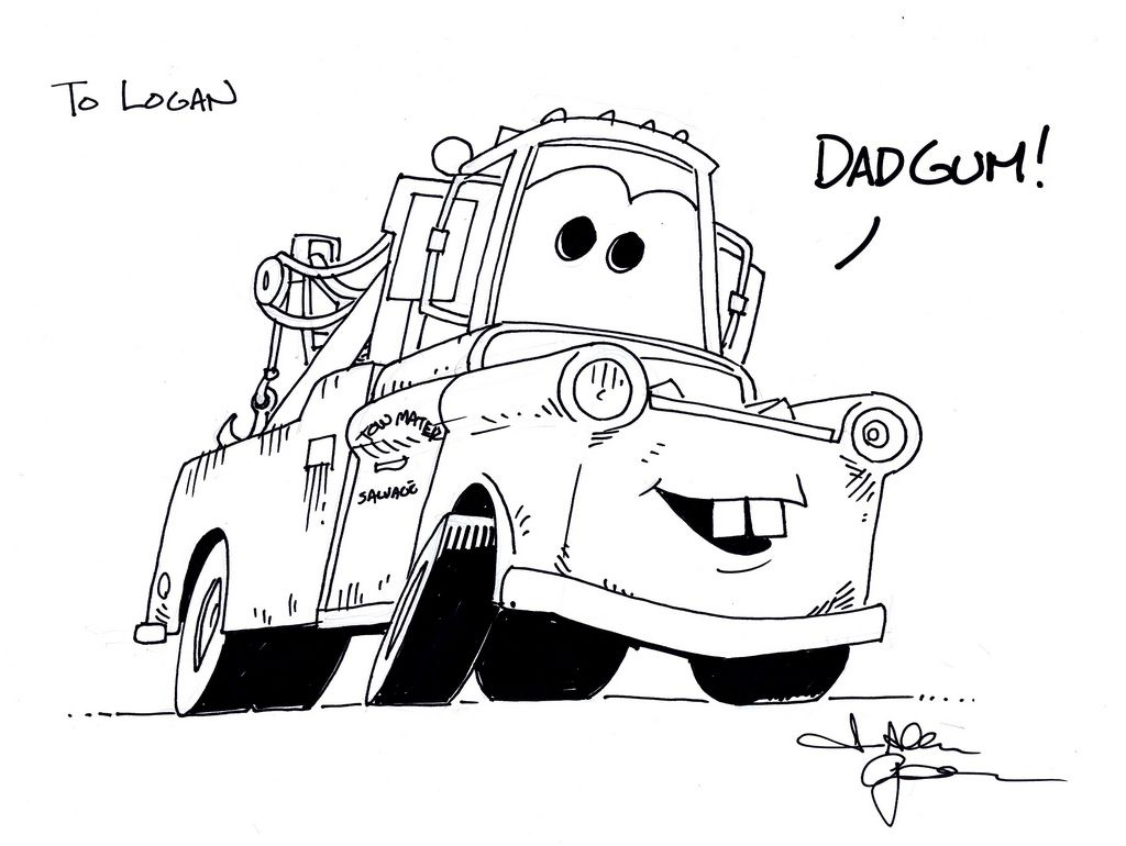 Mater colouring pages kids coloring europetravel coloringpages