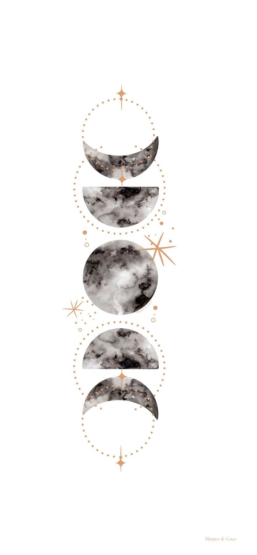 Moon Phases Iphone Wallpaper Iphone Wallpaper Moon Live Wallpaper Iphone Moon Wall Art