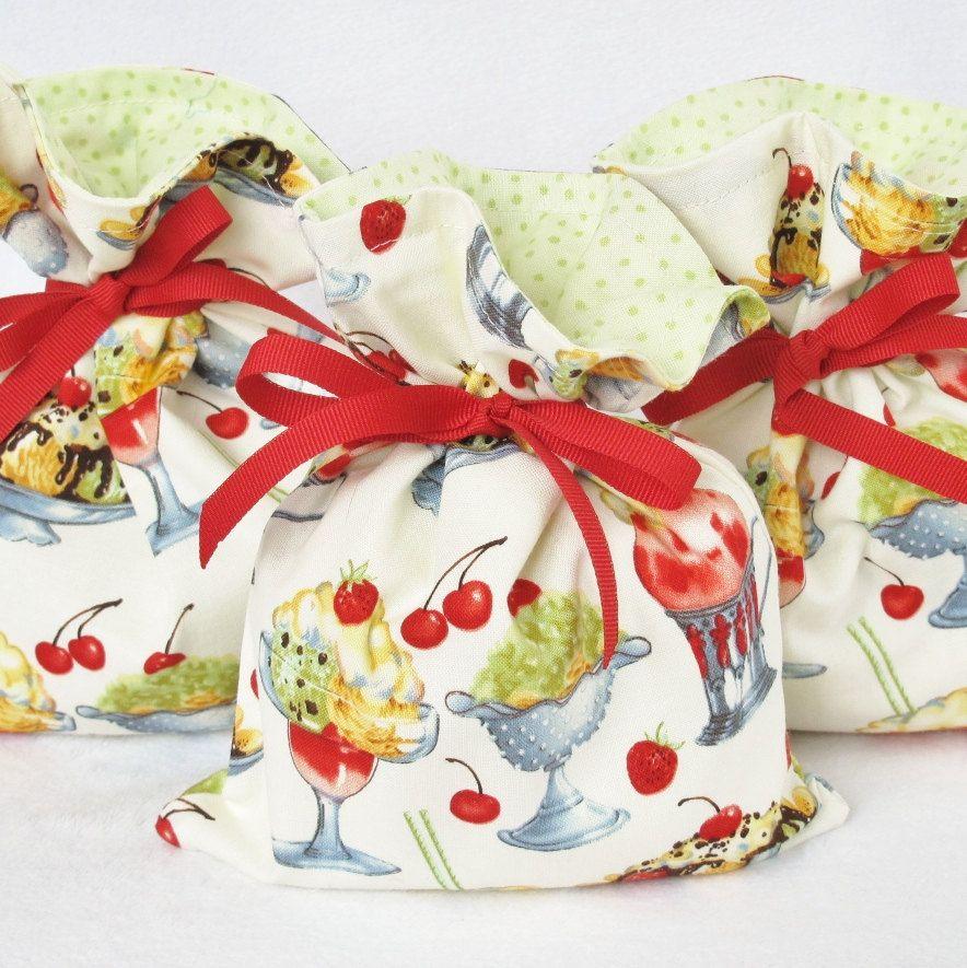 Ice cream gift bag via etsy fabric gift bags ice