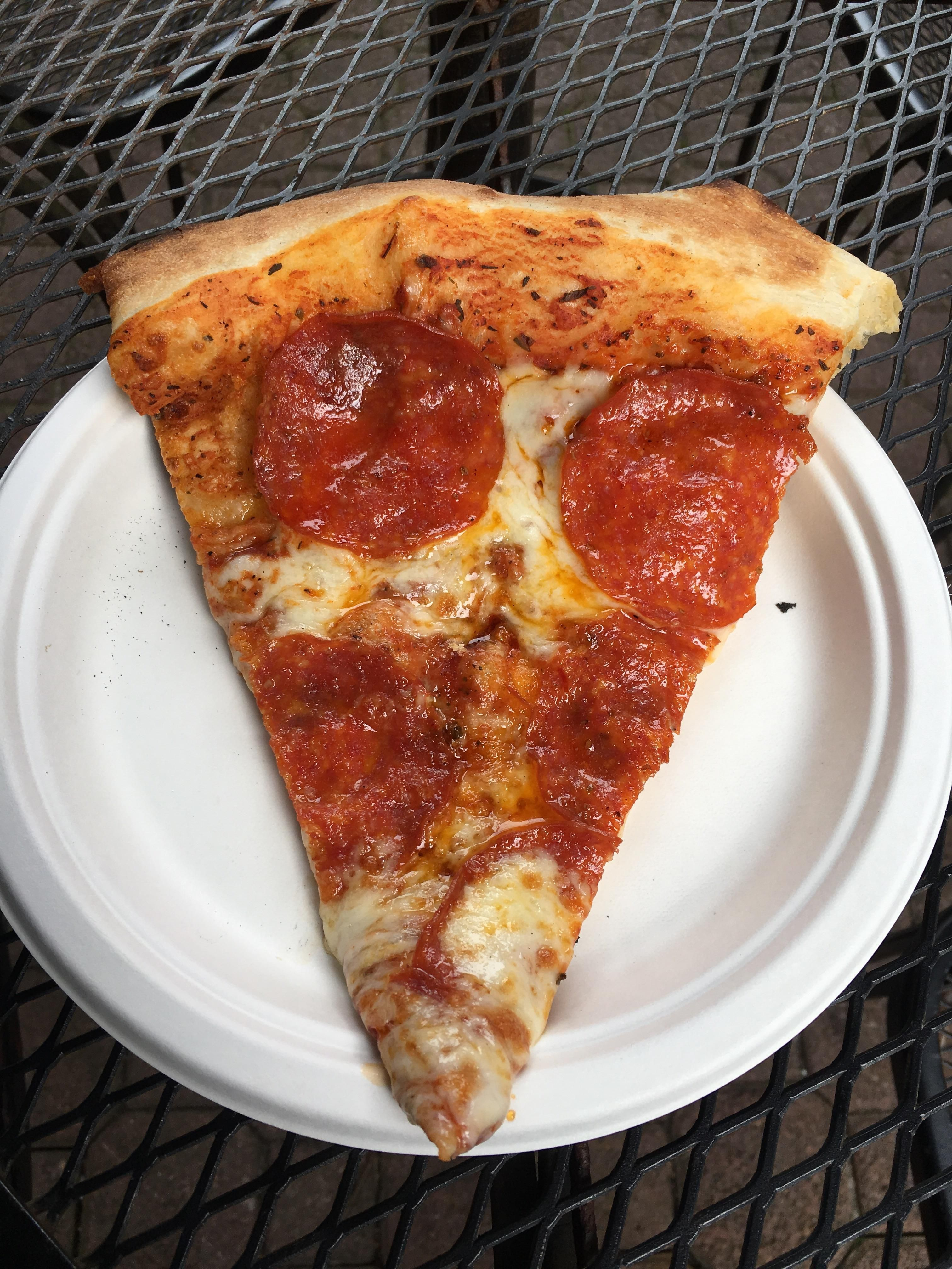 A delicious slice of Pepperoni from Pizza a' Fetta in Cannon Beach OR #pizza #food #foodporn #yummy #love #dinner #salsa #recipe