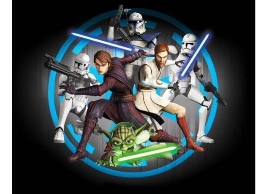 Fototapete Kinderzimmer Star Wars Clone Wars Walltastic