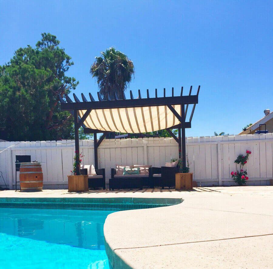 25 Outstanding Pool And Pergola Designs Pergola Shade Pergola Designs Backyard Pergola