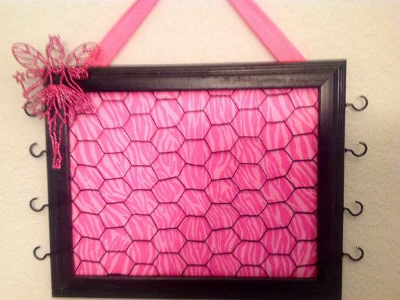 fd7c6bbe6 Upcycled frame wire Hot pink princess by CreativeDesignsUpcyc, $30.00 Black Bulletin  Boards, Princess Room