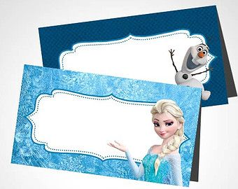 photo about Frozen Printable Labels named Prompt Down load - Disney Frozen motivated Blank Food items Tents