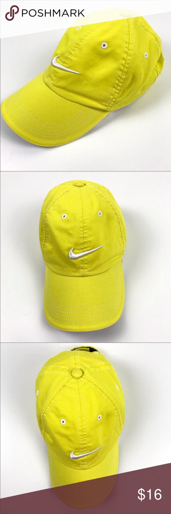 Nike Golf Hat Baseball Cap Adjustable Yellow Os Nike Golf Hat Baseball Hats Nike Golf