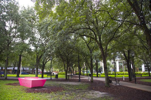 Visitors to Lykes Gaslight Park in downtown Tampa can now play Ping Pong in the Park any day of the week on a table provided by The Urban Conga. Bring your own paddles and balls or rent them nearby.