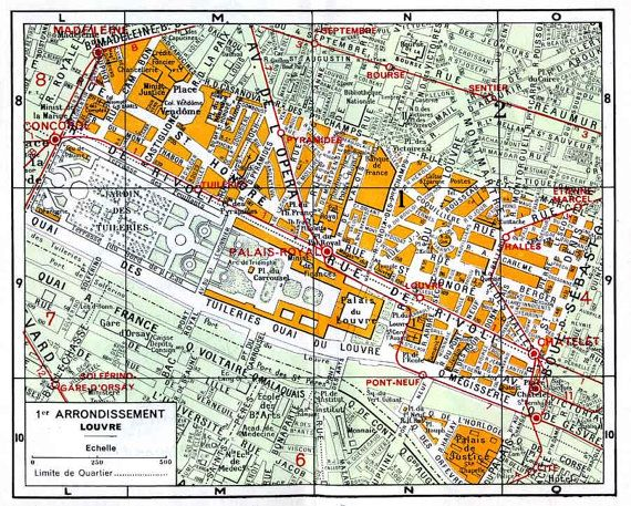 Paris Map Of 1st Arrondissement Digital Download Of By Workbox