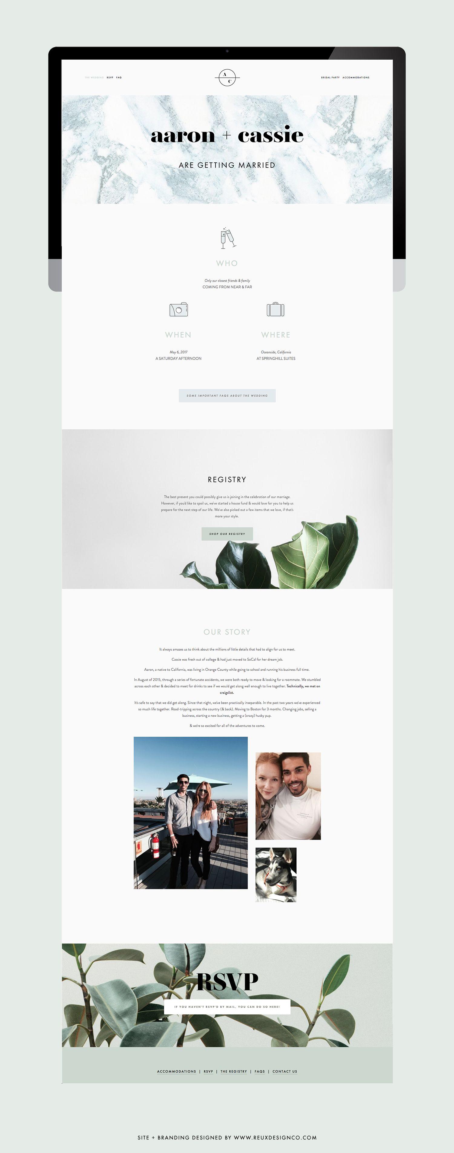How I Branded Designed My Wedding Website And Stationery Wedding Website Creative Website Design