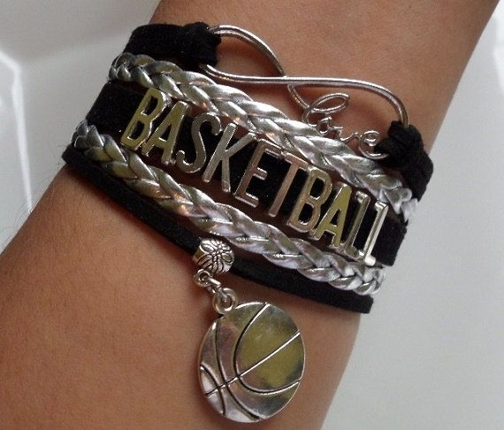 Basketball bracelet Basketball charm Infinity love by SummerWishes