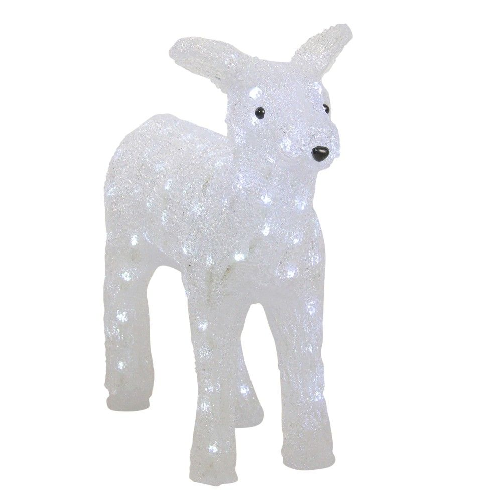 Northlight 18 Lighted Commercial Grade Acrylic Baby Reindeer Christmas Outdoor Decoration Commercial Christmas Decorations Christmas Reindeer Decorations Reindeer Decorations
