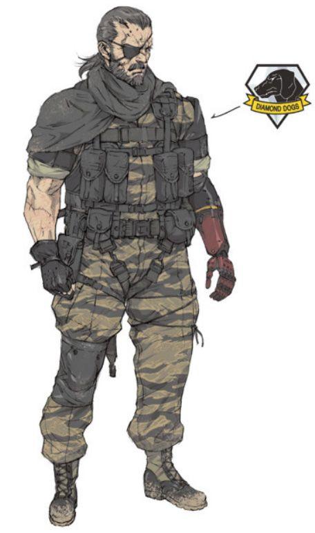 Mgsv Big Boss Concept By Yoji Shinkawa Metal Gear Solid