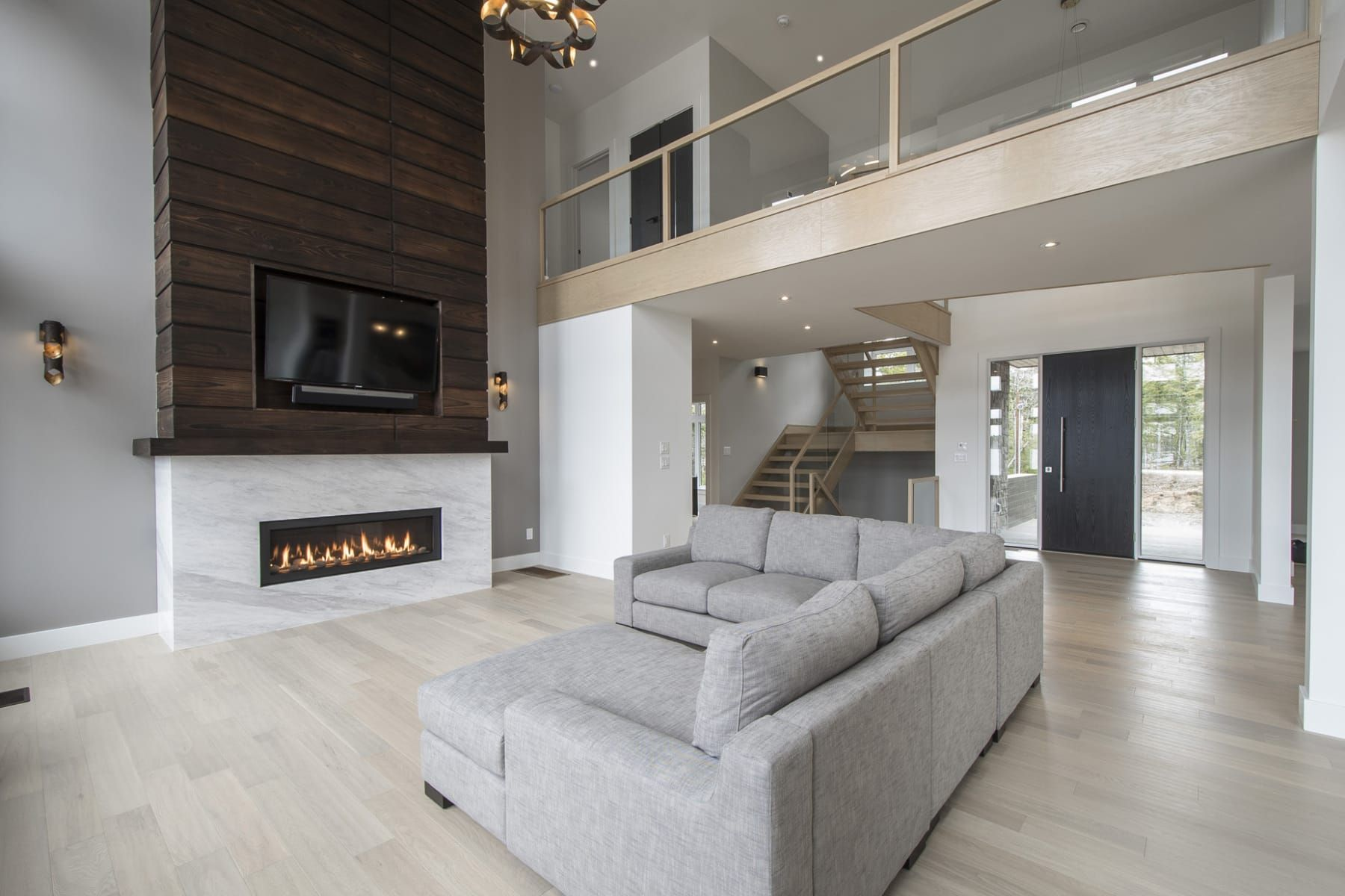 Rise Bridge Over Water Living Room Fireplace Makeover Fireplace Decor Firepla Furniture Design Living Room Open Concept Living Room Living Room Colors #open #entryway #living #room