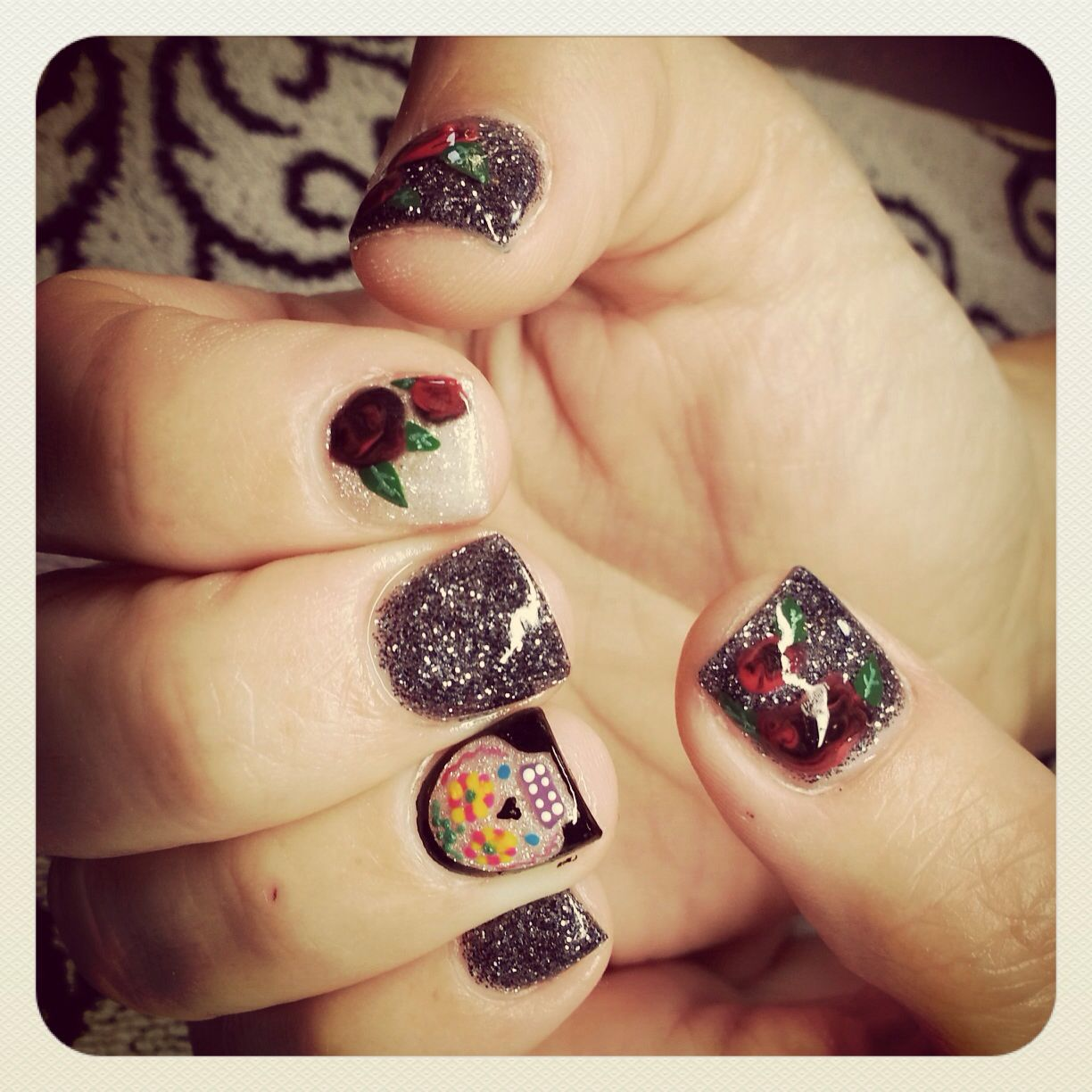 Day of the dead nails | Nails | Pinterest
